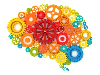 Systems Thinking Brain made with system gears