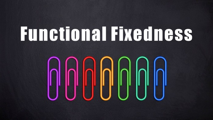 Functional fixedness paper clip problem