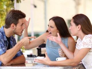 Three friends not managing emotions